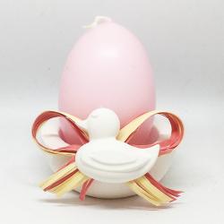 Uovo rosa con base in gesso