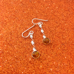 Orecchini argento e ambra